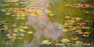 Water Lillies - one of the paintings we are going to study by one of my favorite artists - Monet.