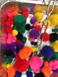Our color sensory bin.